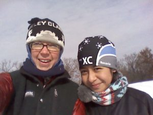 Loppet Mentors pair Emily and Rosario meet for weekly skis in Wirth Park.