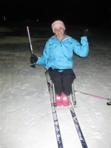 Rose Hollermann is aiming for the Winter Paralympics some day...