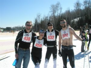 Loppet Ski Club members skiing the Pepsi Challenge in 2012.