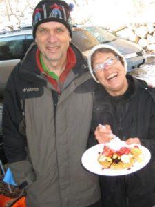 Tony and Kathy Mommsen - the Waffle Loppet masters.