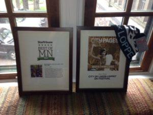 Beautiful, framed awards courtesy of the Star Tribune.