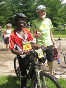 Fred (Anwatin) and George Boody were paddle partners during the UCare Tri-Loppet.