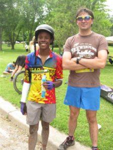 Jezir (Antwain) and Byron Lubenkov both enjoyed a sense of accomplishment after the race.