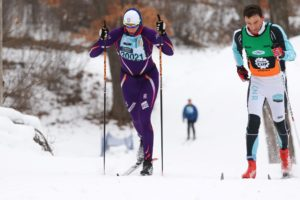 Women's champion Natalia Naryshkina (Photo Credit:  Bruce Adelsman / skinnyski.com)