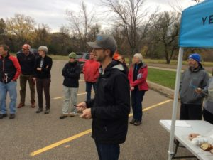 New Trails Superintendent Isaac Kasper Giving Direction on Trails Day