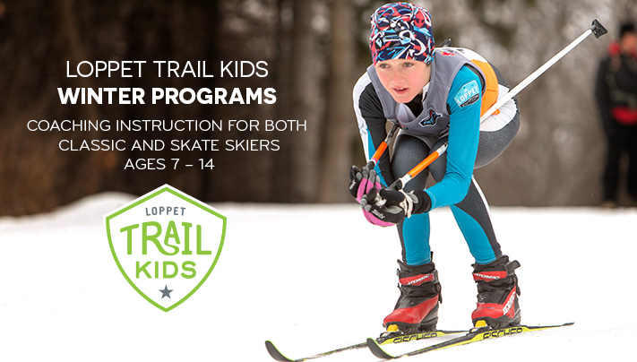 Loppet TRAIL KIDS Winter Programs. Coaching instruction for both classic and skate skiers ages ages 7 – 14