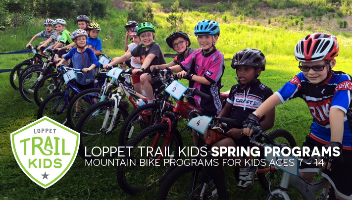 Loppet TRAIL KIDS Spring Programs. Mountain bike programs for kids ages 7 – 14