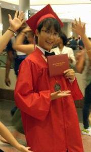 Saysetha in graduation regalia