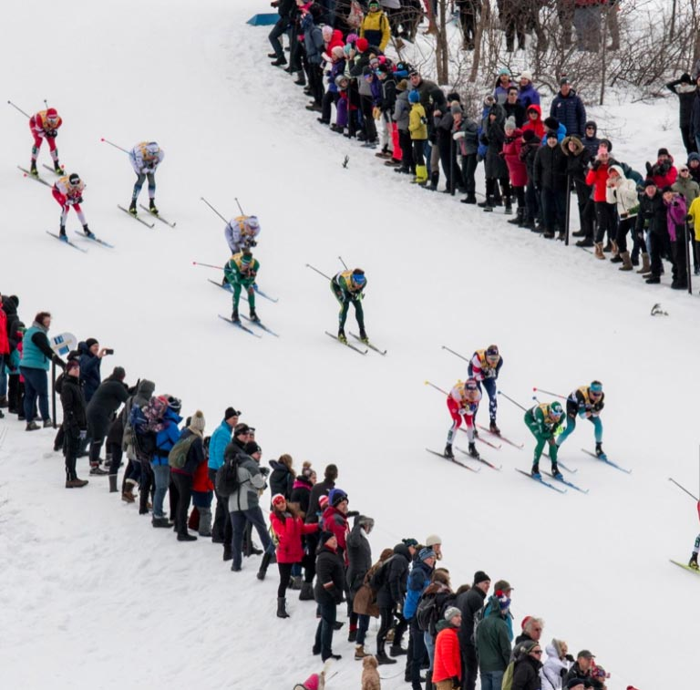 World Cup Cross Country Ski Race Infield Spectators